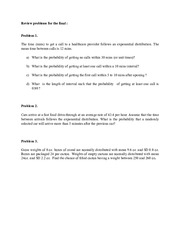 Review problems for final exam(1)