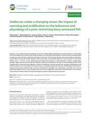Faleiro et al 2015 Seahorses warming and acidification.pdf