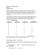 Lecture 7 Problem answers