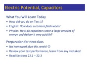 Class 051 - Electric Potential - Capacitors