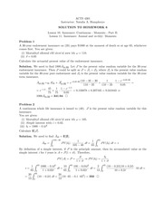 Homework 6 Solution on Principles of Actuarial Models Life Contingencies