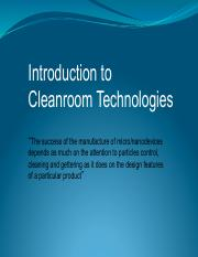 Lecture2_Cleanroomtech