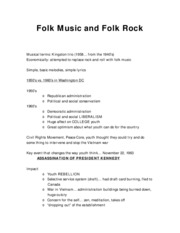 2.2 Folk Music and Folk Rock
