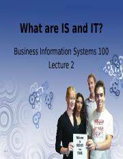 Lecture 02 - What are IS and IT(1)