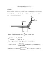Fall 2008 Midterm for MECH 210 with Solutions
