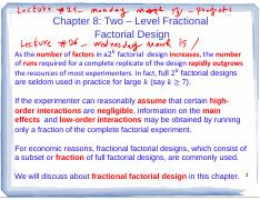 8 Chapter8 Pdf Chapter 8 Two Level Fractional Factorial Design Asthenumber Offactorsina2 Thenumber Ofruns Infactfull 2 Factorial Designs Are