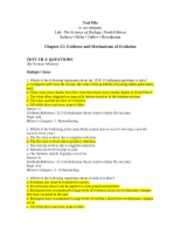 Ch21 Test File-Evidence and Mechanisms of Evolution