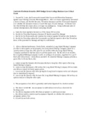 Contracts Problems from the 2008 Medgar Evers College Business Law I Final Exam