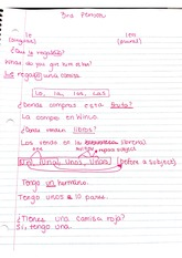 span 3rd person notes