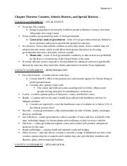 Ch. 13-15 Reading Notes