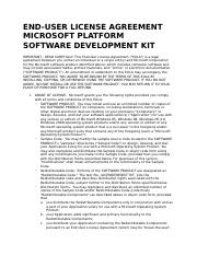 Microsoft Platform SDK 2003 License - English