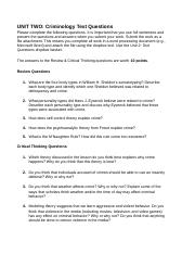 unit 2 text qeustions How do unit questions assist the learner once an essential question has been identified and agreed upon by the learners,.