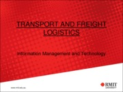 11-Information Management and Technology in Freight Transportation