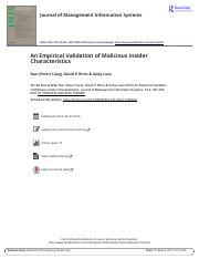An Empirical Validation of Malicious Insider Characteristics.pdf
