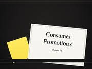 Chapter 14 Consumer Promotions