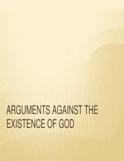 Arguments Against God's Existence