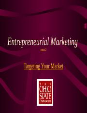 emm 2  Class Two Targeting your market