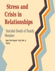 Stress Family Crisis-Death in a Family Group Presentation