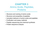 Biochemistry I Lecture 3 Notes