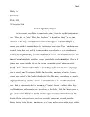 Research Paper Topic Proposal