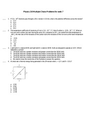 Physics 210 Practice Question 7 and Solutions