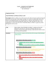 Teel 340 - Bullying Level One Lesson Plan