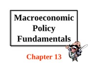 Chapter 13 Macroeconomic Policy Fundamentals-2