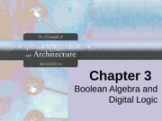Chapter 3 boolean and digital logic 2nd ed