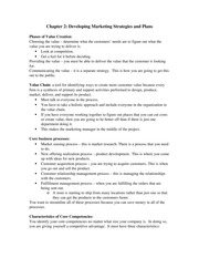Chapter 2 Notes - Developing Marketing Strategies and Plans