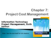 ch07-Project Cost Mgt