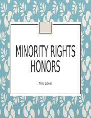Minority Rights Honors.pptx