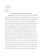 Michelangelo Research Paper