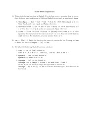 Homework F on Computation For Pure Mathematicians