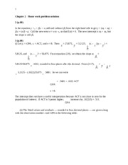 Chapter 2   Home work problem solution