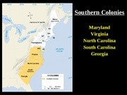 Colonizing the Southern Colonies
