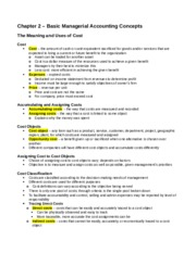 ACC406 - Chapter 2 Notes