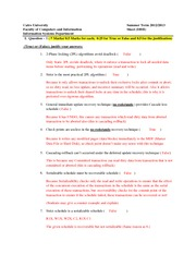 IS312_HOMEWORK SOLUTION_Concurency Control and Recovery Sheet