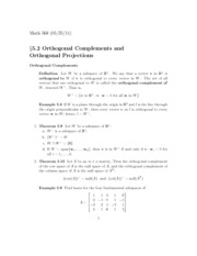 Math568sec5.2SP11OrthogonalComplements