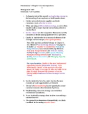 Fitzsimmons 7-Chapter 3-Lecture Questions-Service Strategy