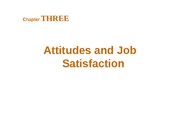 Chapter 3 - Attitudes and Job Satisfaction - BB
