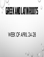 Week of April 24-28 hyrdo, grav, therm, phobos