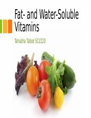 Fat- and Water-Soluble Vitamins WEEK3