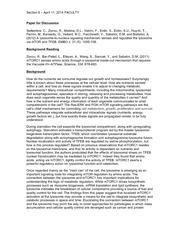 CELLBIO 201 Spring 2014 Section 8 Discussion Guide