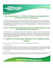 SAP ERP 6.0 EhP7 C_TFIN52_67 Exam Dumps