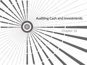 Student ACTG 492 Chapter 16 - Cash