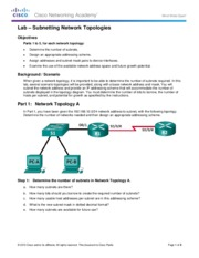 9.1.4.9 Lab - Subnetting Network Topologies