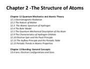 Ch 2 - The Structure of Atoms(1)
