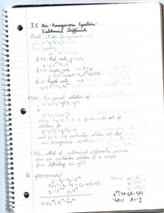 non-homogeneous equations notes