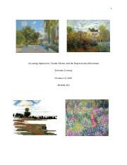 Yohonna Conway Claude Monet and the Impressionist Movement.docx