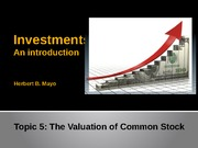 Topic 5- Stock valuation